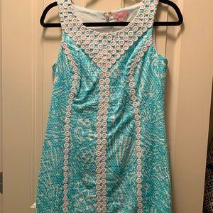 Lilly Pulitzer shift dress 4 blue shells